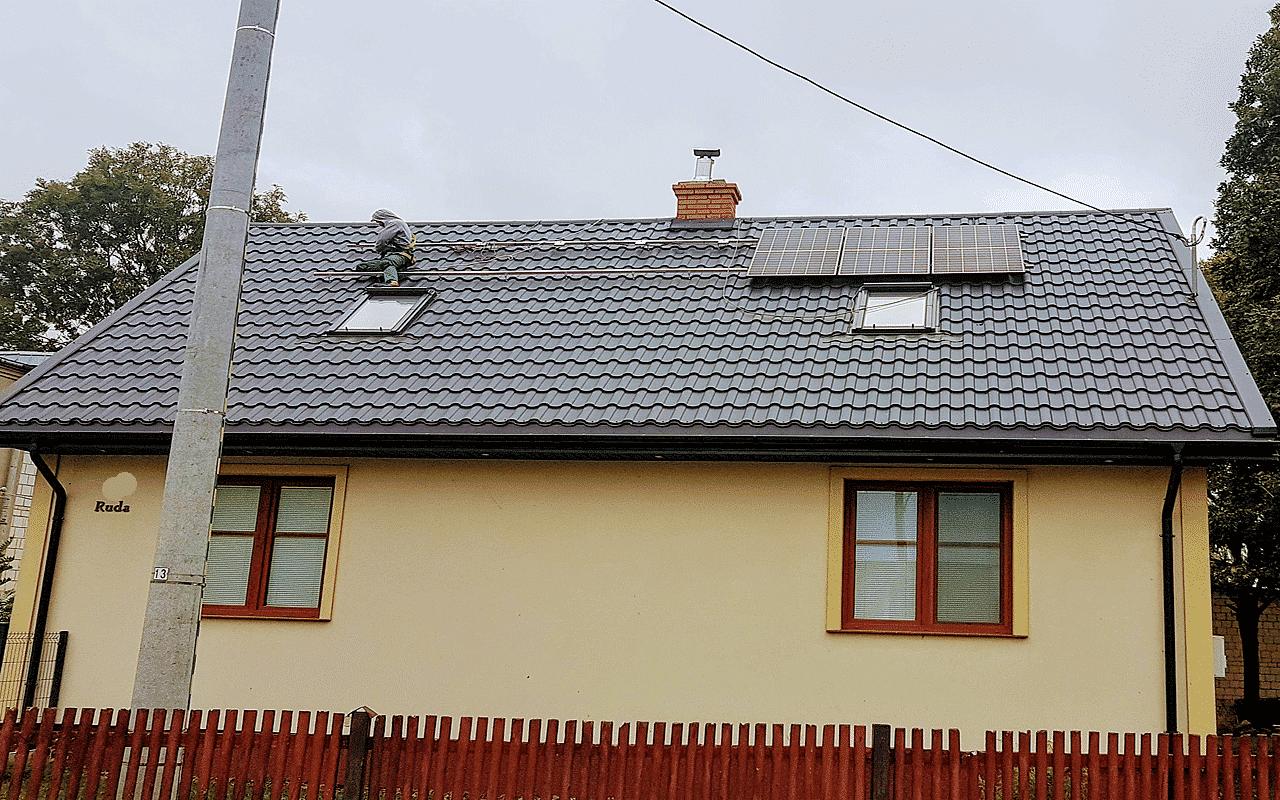 Dom z fotowoltaiką na dachu w Białymstoku