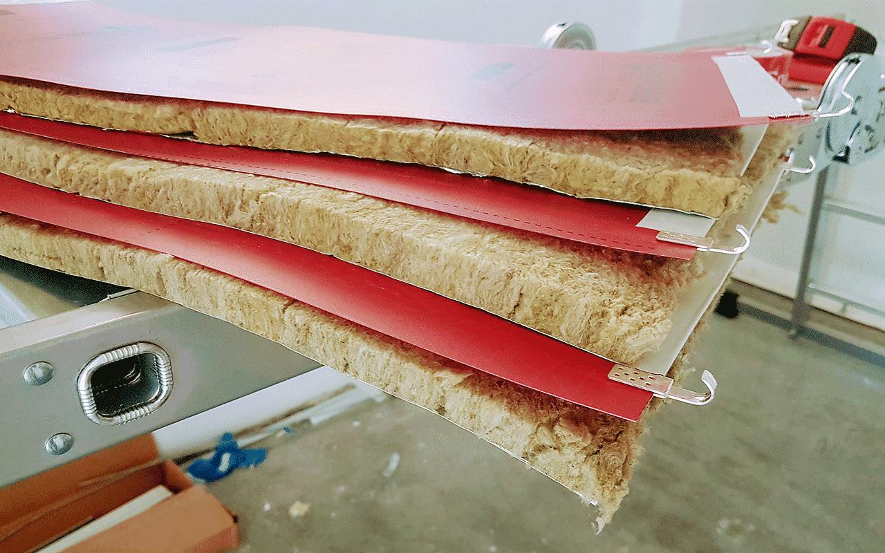 folia grzewcza przygotowana do montażu