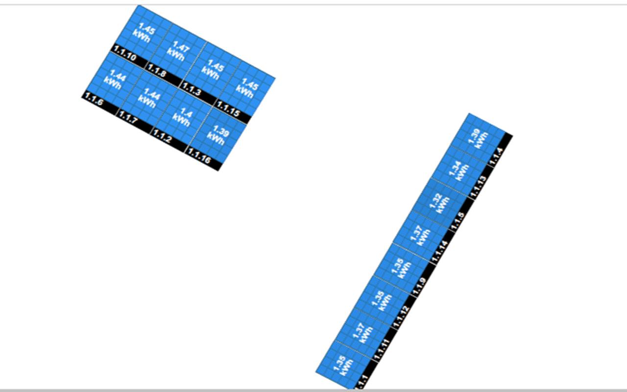 zdjecie ukladu modulów fotowoltaicznych